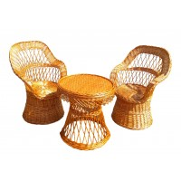 Set mobilier din rachita Rotund